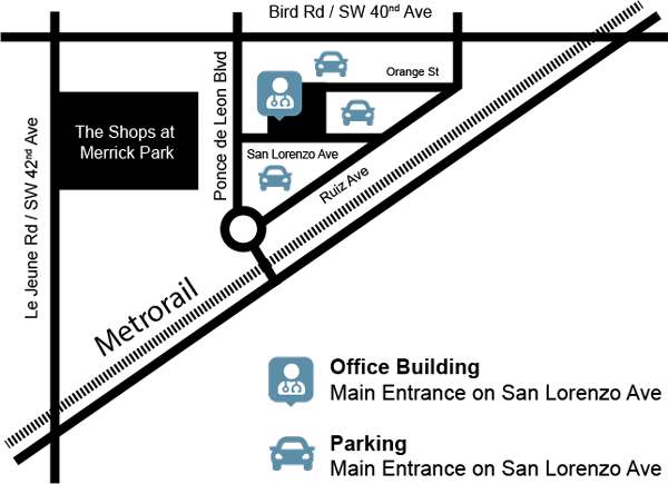 Map illustration of Dr. Alysa Herman's office