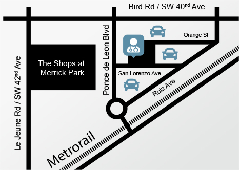 Map of the location of Dr. Herman's office