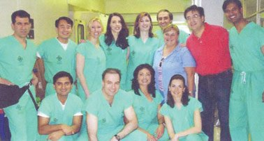 Dr. Herman and a group of doctors from Chile