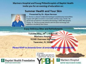 Summer Health and Your Skin Event Flyer