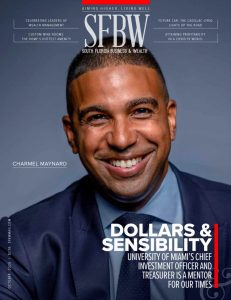 Cover of South Florida Business & Wealth magazine which includes an inside feature of Dr. Alysa Herman.